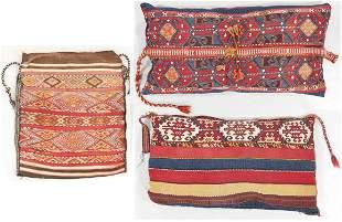 Three Antique East Anatolian Sumak Cargo Bags