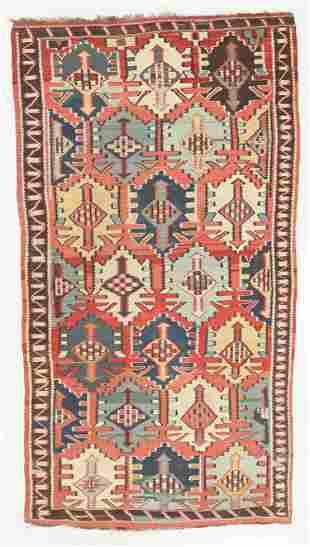 Antique Kuba Kilim, Caucasus: 5'6'' x 9'9''