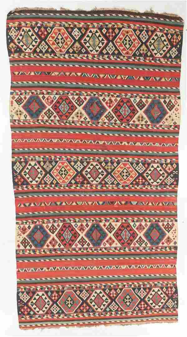 Antique Shirvan Kilim, Caucasus: 6'1'' x 11'1''