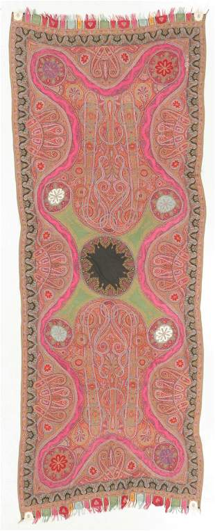 Fine Antique Kashmir Shawl, India