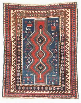 Antique Kazak Rug, Caucasus: 4'1'' x 5'2''