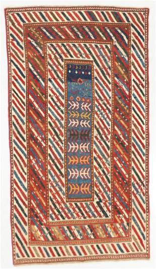 Antique Kazak Rug, Caucasus: 4'1'' x 7'4''