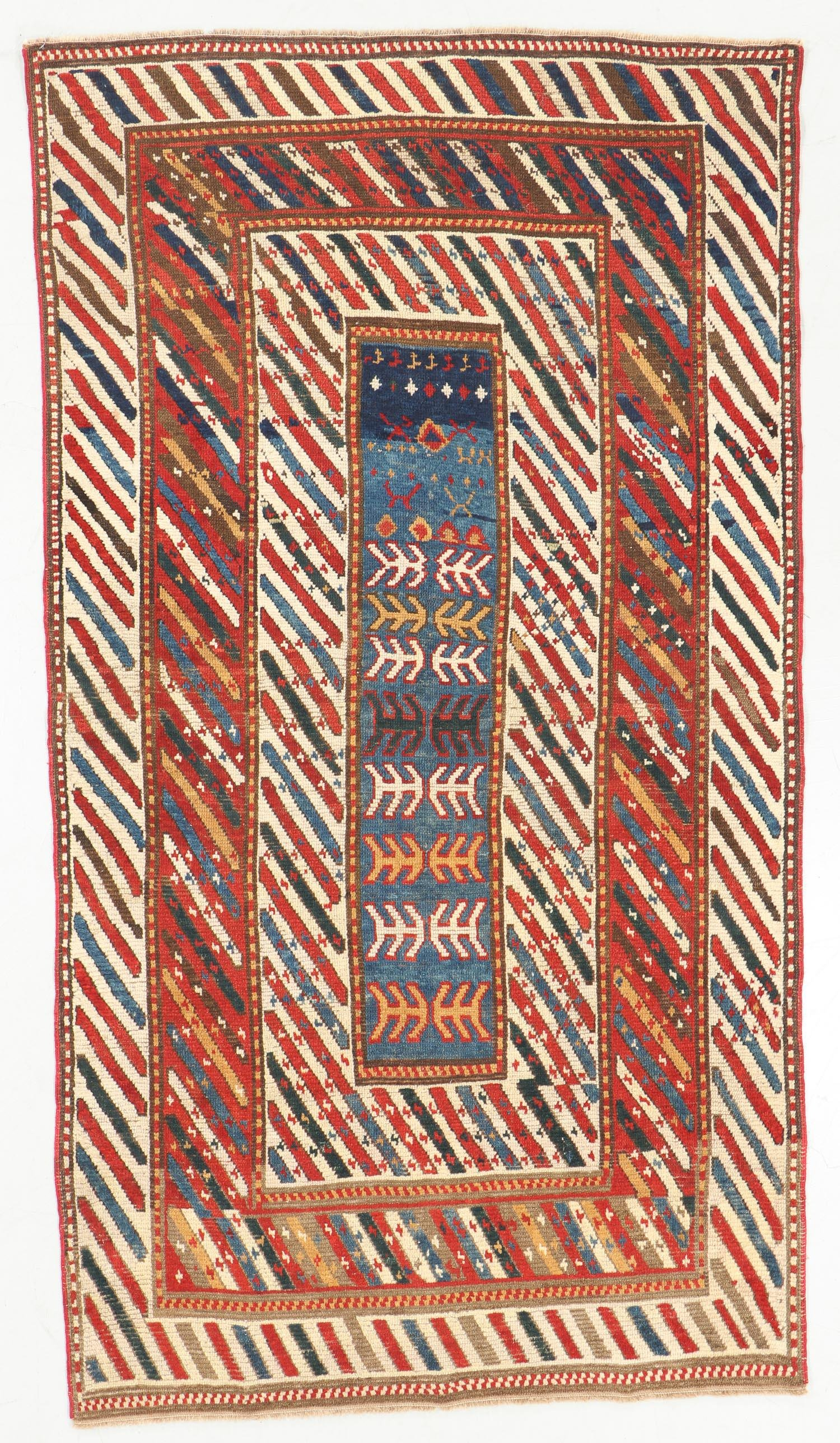 Antique Kazak Rug, Caucasus: 4'1'' x 7'4''