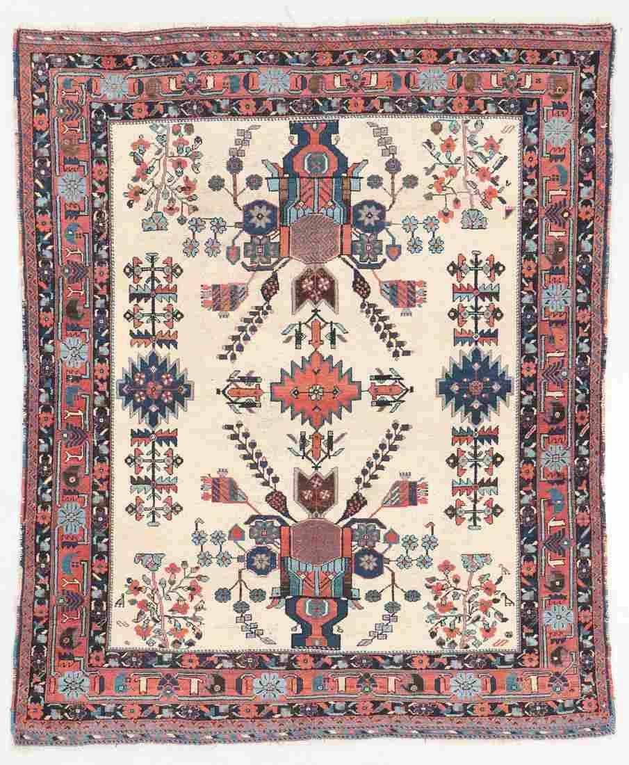 Antique Afshar Rug, Persia: 4'6'' x 5'7''