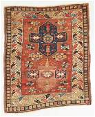 Antique Kazak Rug, Caucasus: 3'9'' x 4'7''