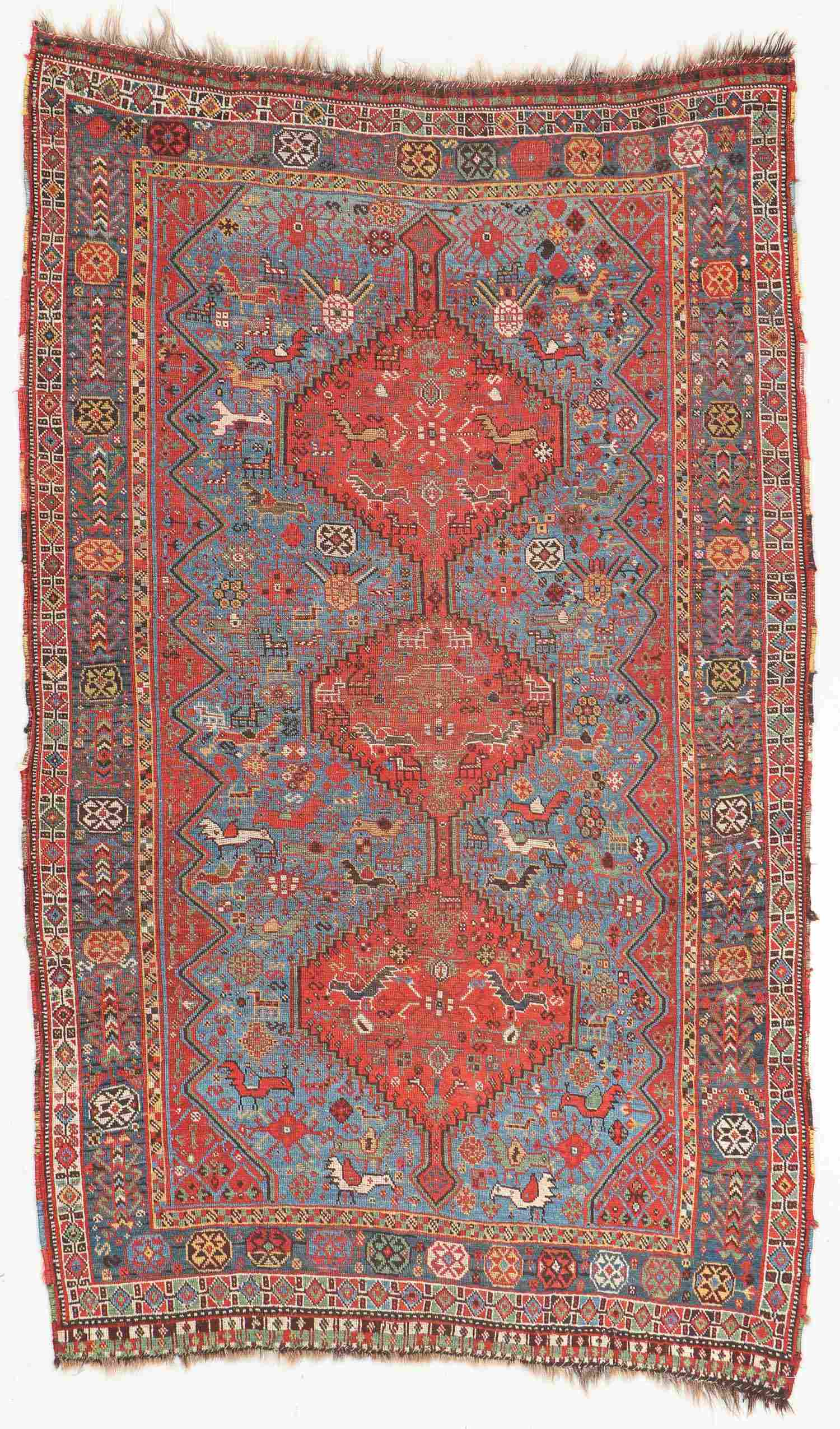 Antique Khamseh Rug, Persia:  4'7'' x 7'11''