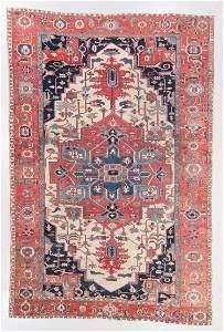 Antique Serapi Rug, Persia: 9'3'' x 12'1''