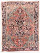 Antique Heriz Rug, Persia: 8'10'' x 11'6''