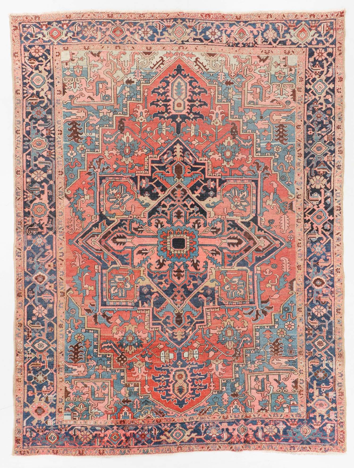 Antique Heriz Rug, Persia: 8'10'' x 11'6''