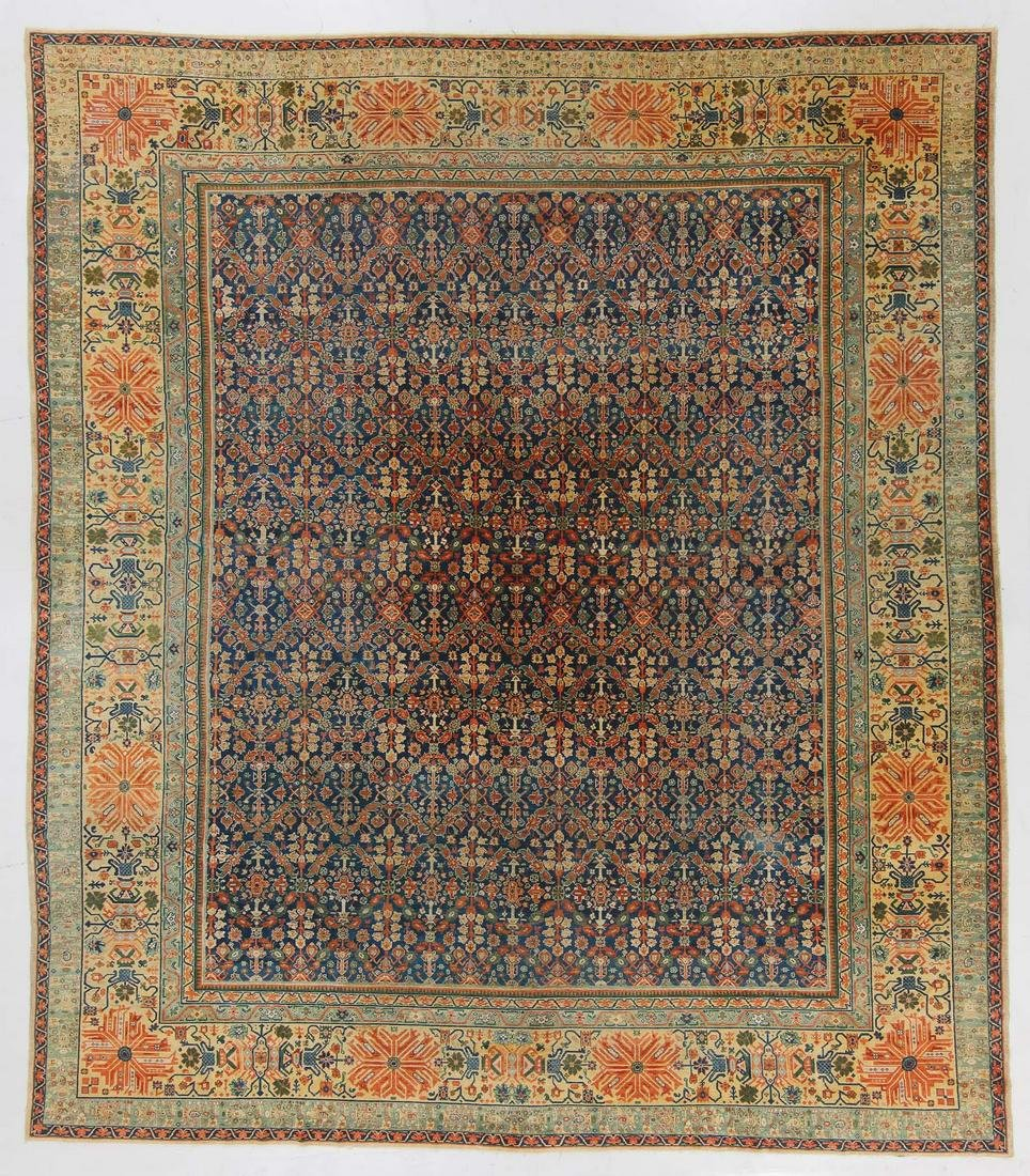 Antique Tabriz Rug, Persia: 15'1'' x 17'2''