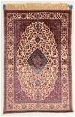 Fine Antique Silk Souf Kashan Rug Persia 45 x