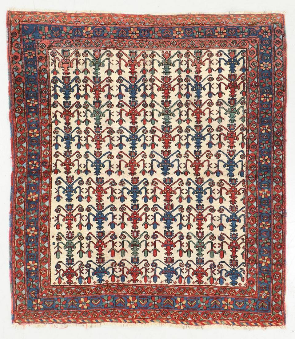 Antique Afshar Rug, Persia: 4'4'' x 4'11''