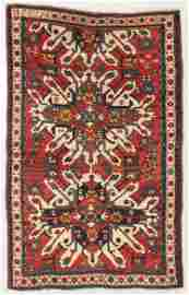 "Antique Armenian Eagle Kazak Rug, Dated ""1857"""