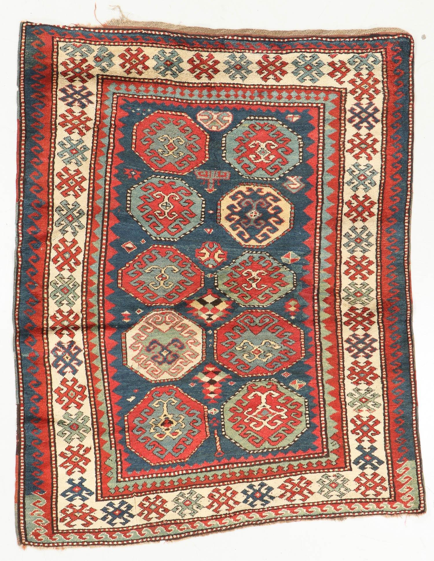 Antique Kazak Rug, Caucasus: 5'2'' x 6'8''