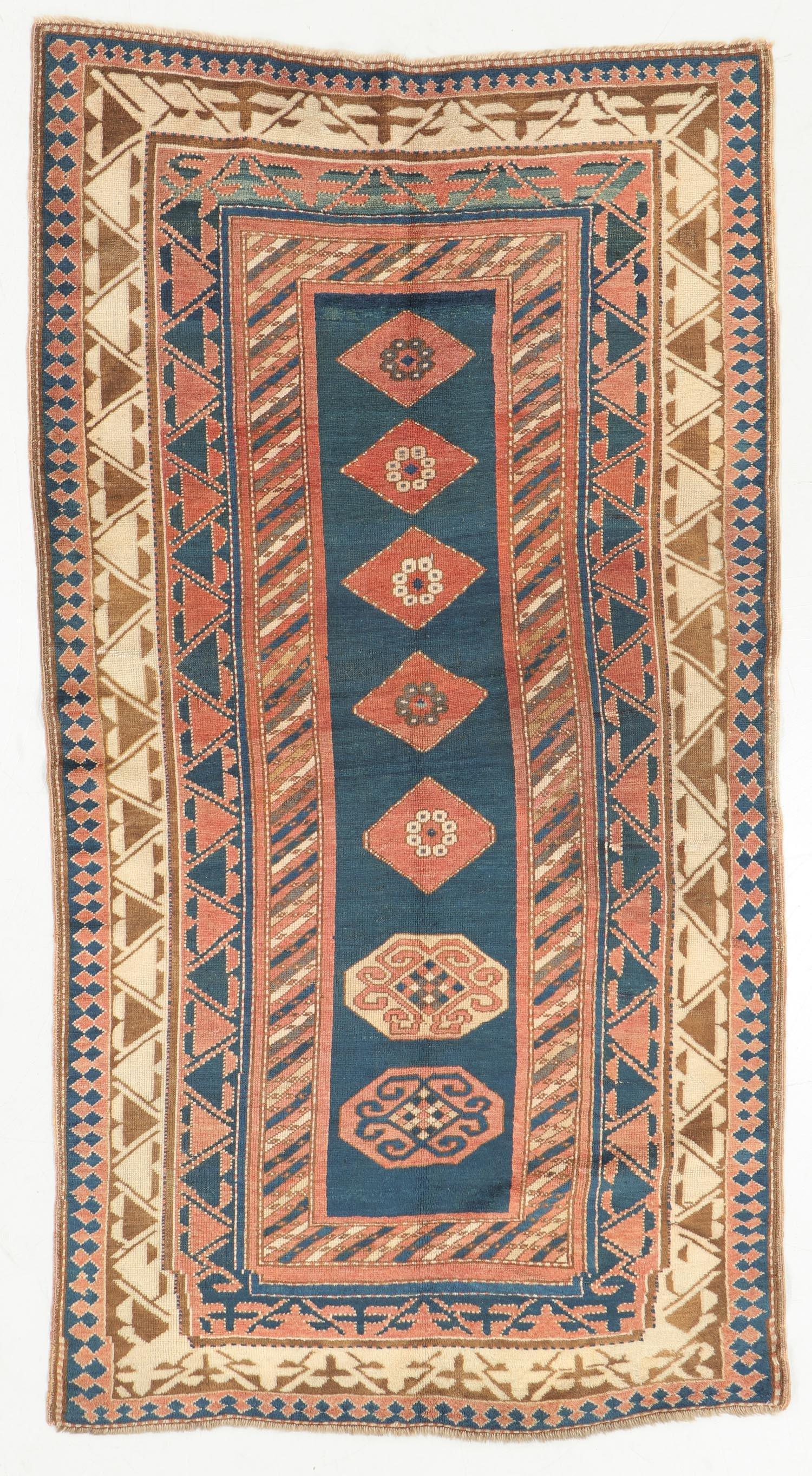Antique Kazak Rug, Caucasus: 4'0'' x 7'7''