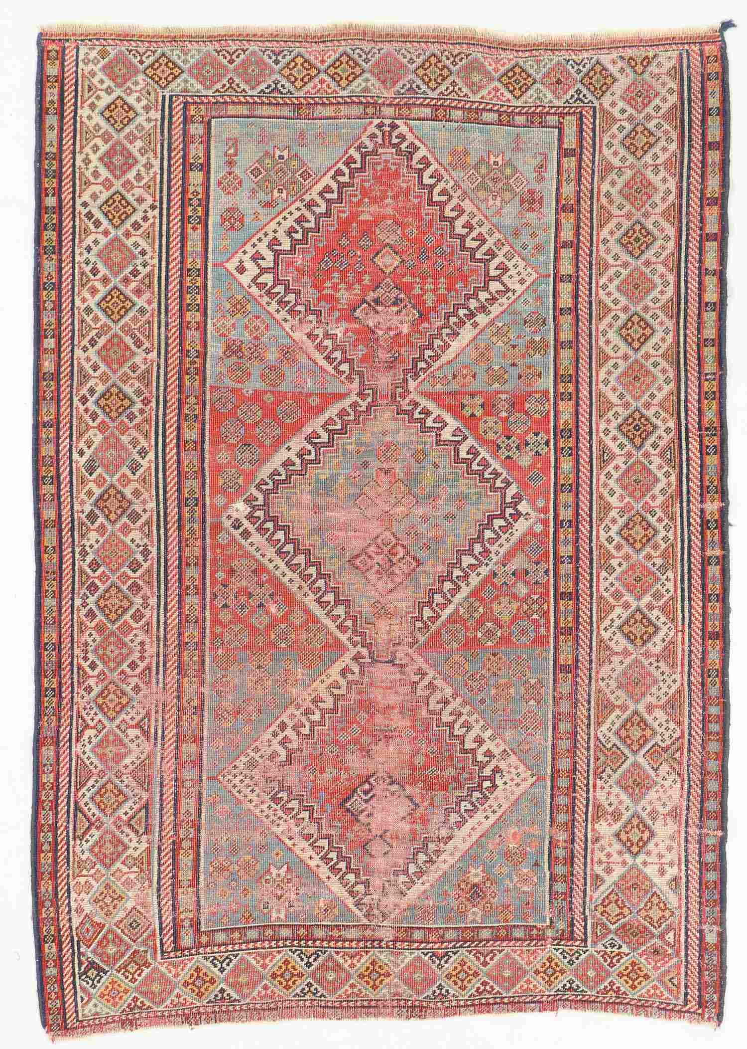 Antique Gashgai Rug, Persia: 4'1'' x 6'0''