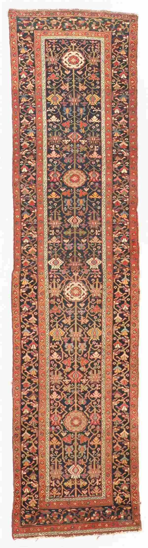 Antique West Persian Kurd Rug, Persia: 3'0'' x 12'3''