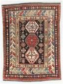 Antique Kuba Rug, Caucasus: 4'1'' x 5'2''