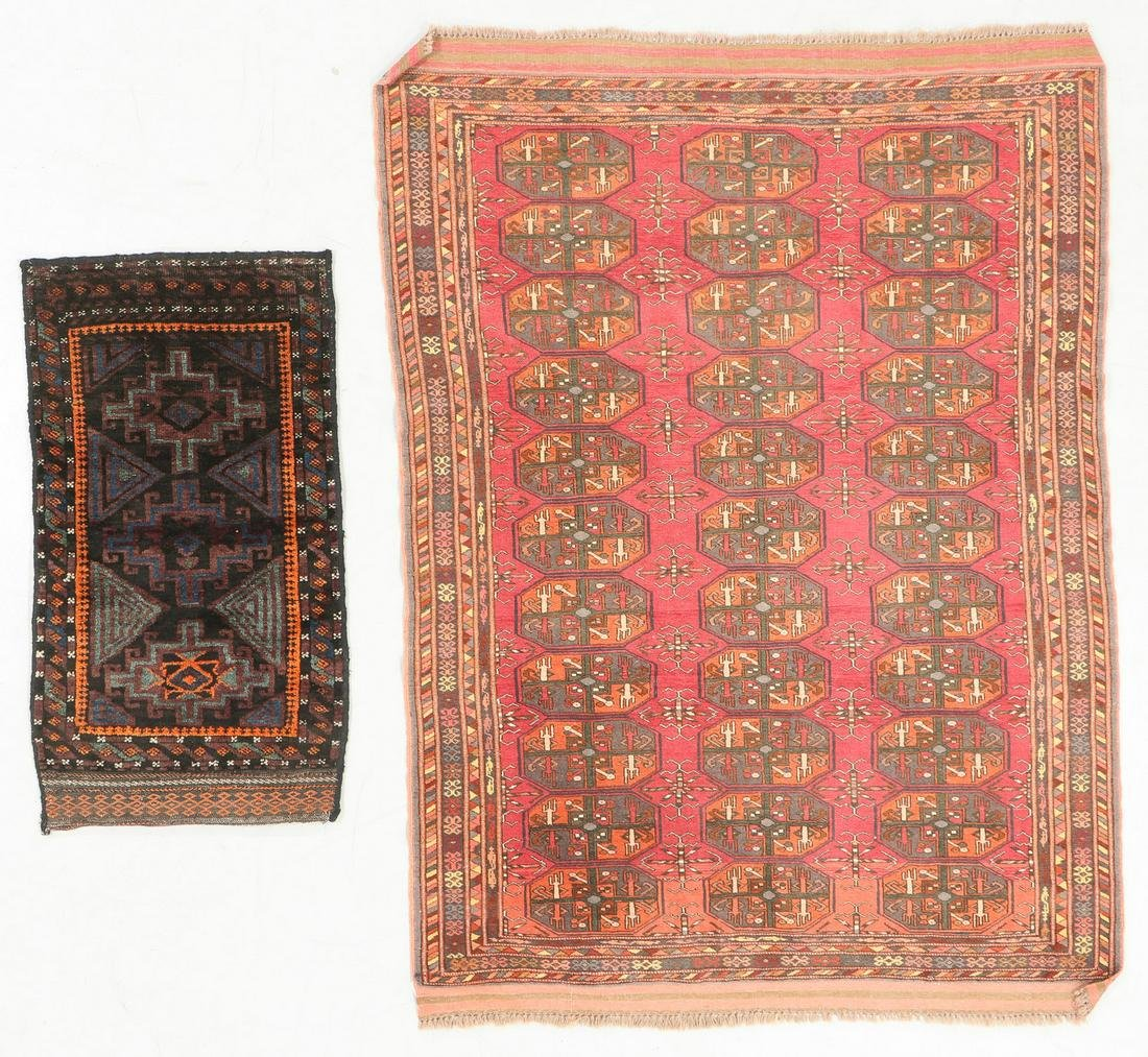 Two Semi-Antique Beluch & Turkmen Rugs