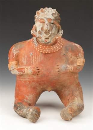 "Pre-Columbian Nayarit Pottery Female Figure, Ht. 15"""