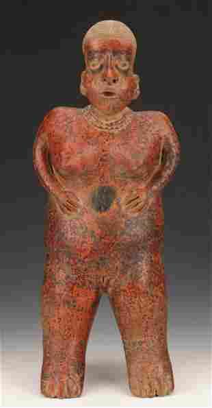 "Nayarit Pottery Standing Female Figure, Ht. 23.5"""