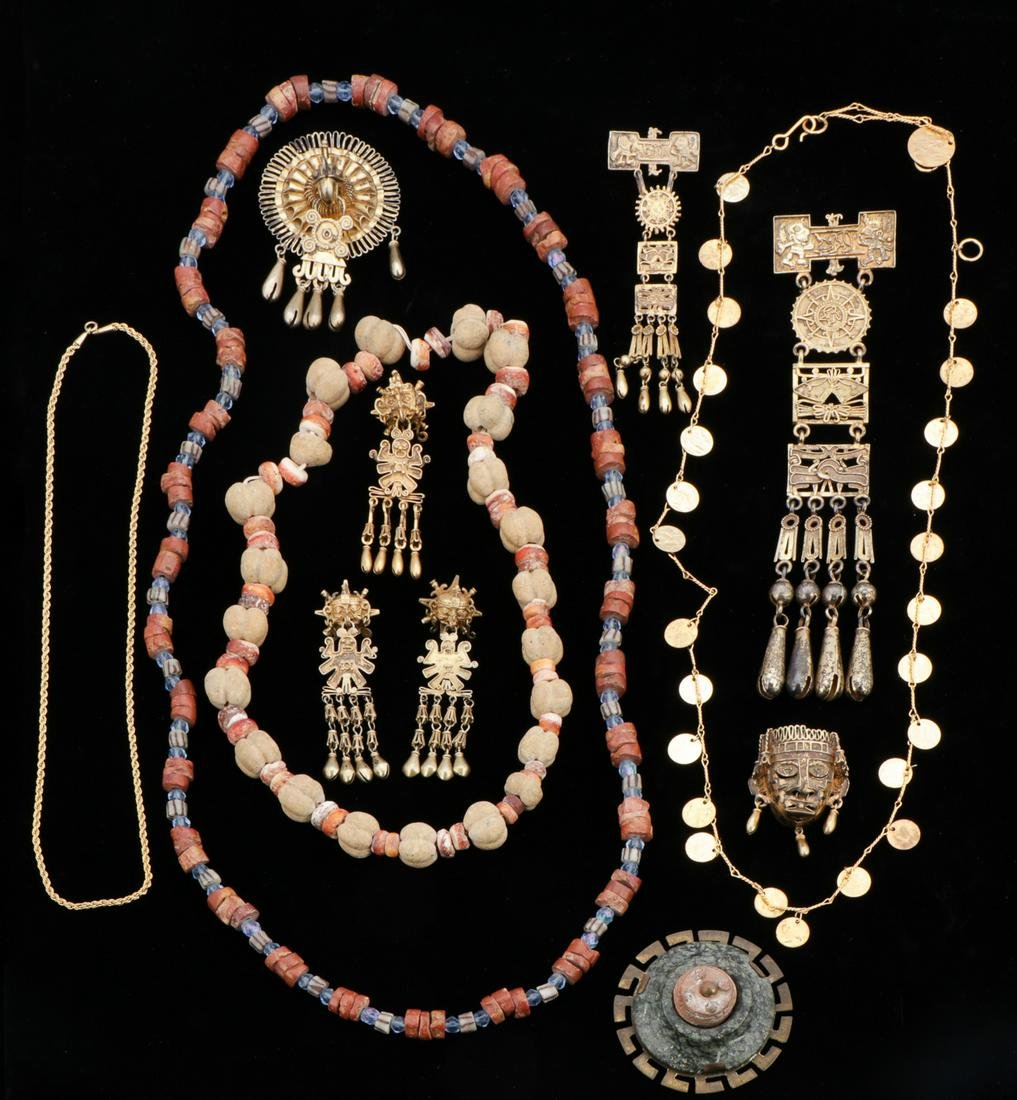 Pre-Columbian Style Jewelry Group
