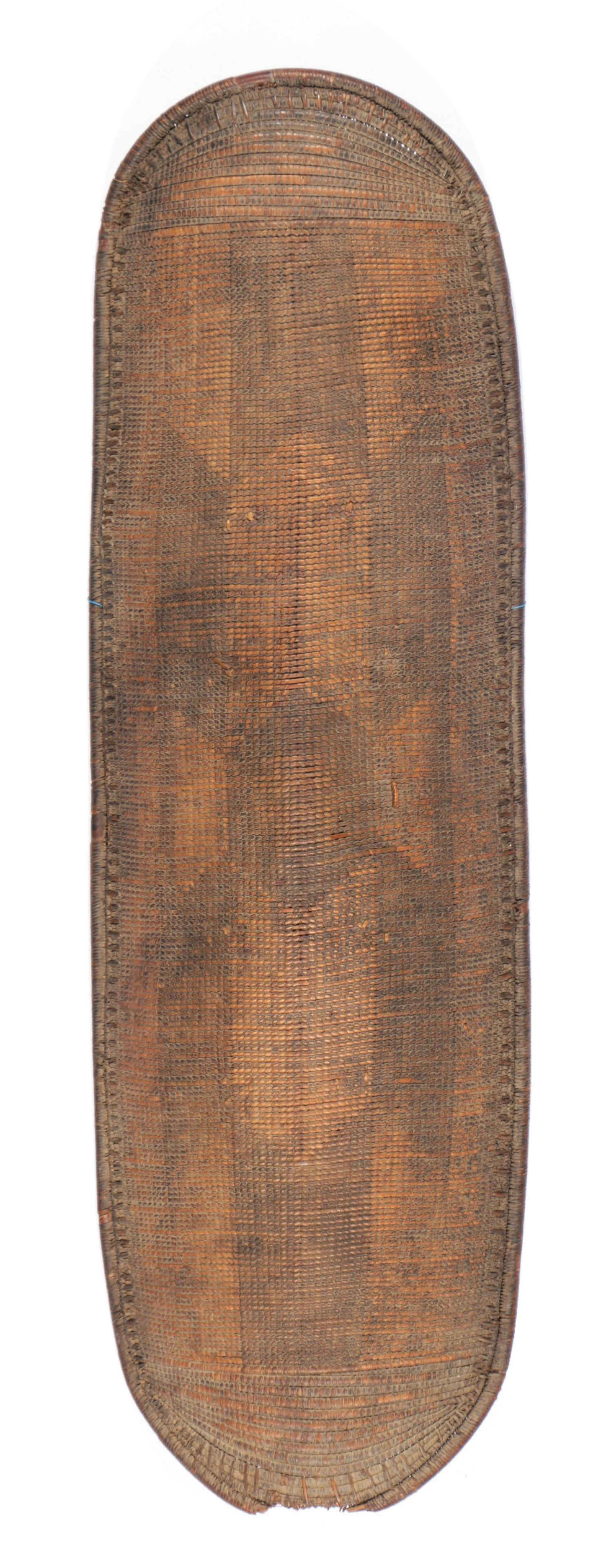 19th C. Wicker Shield, Congo