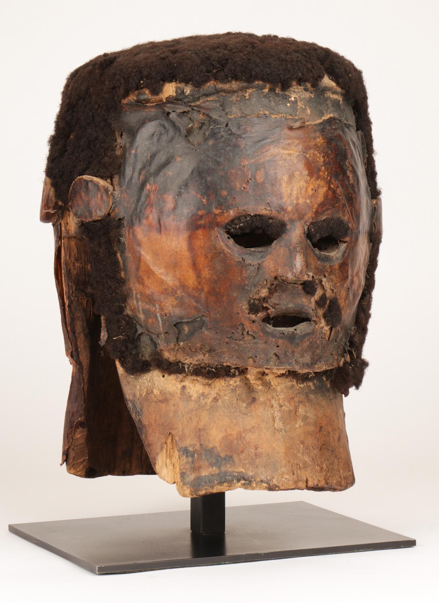 African Ejagham/Ekoi Janiform Helmet, Nigeria