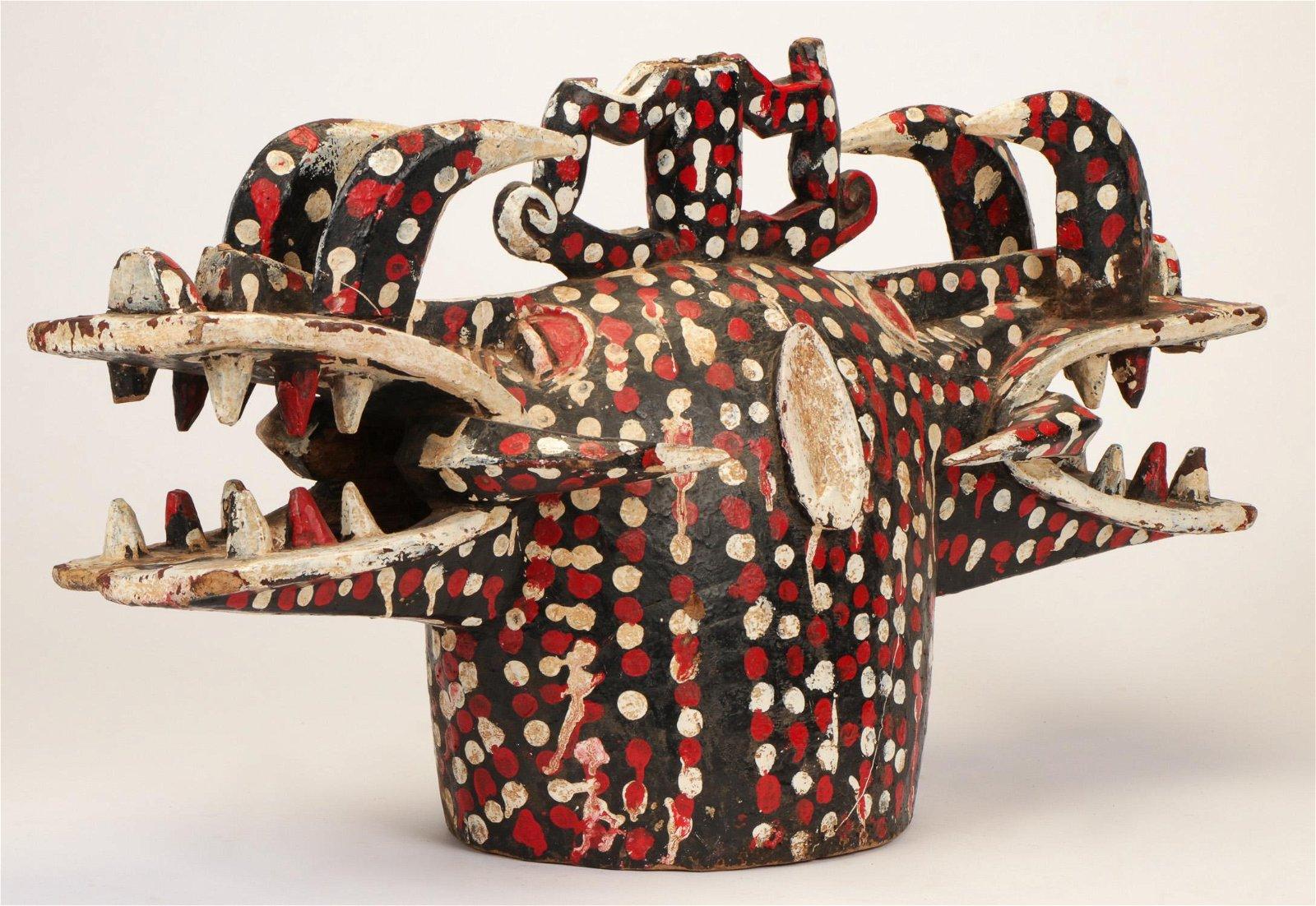 African Senufo Janiform Firespitter Mask