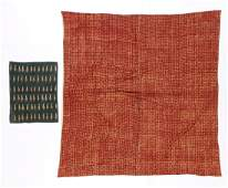 Two Antique Block Printed Textiles, India