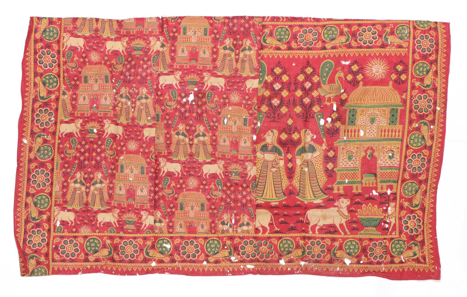 Pictorial Folk Art Hanging, India, Late 19th/Early 20th