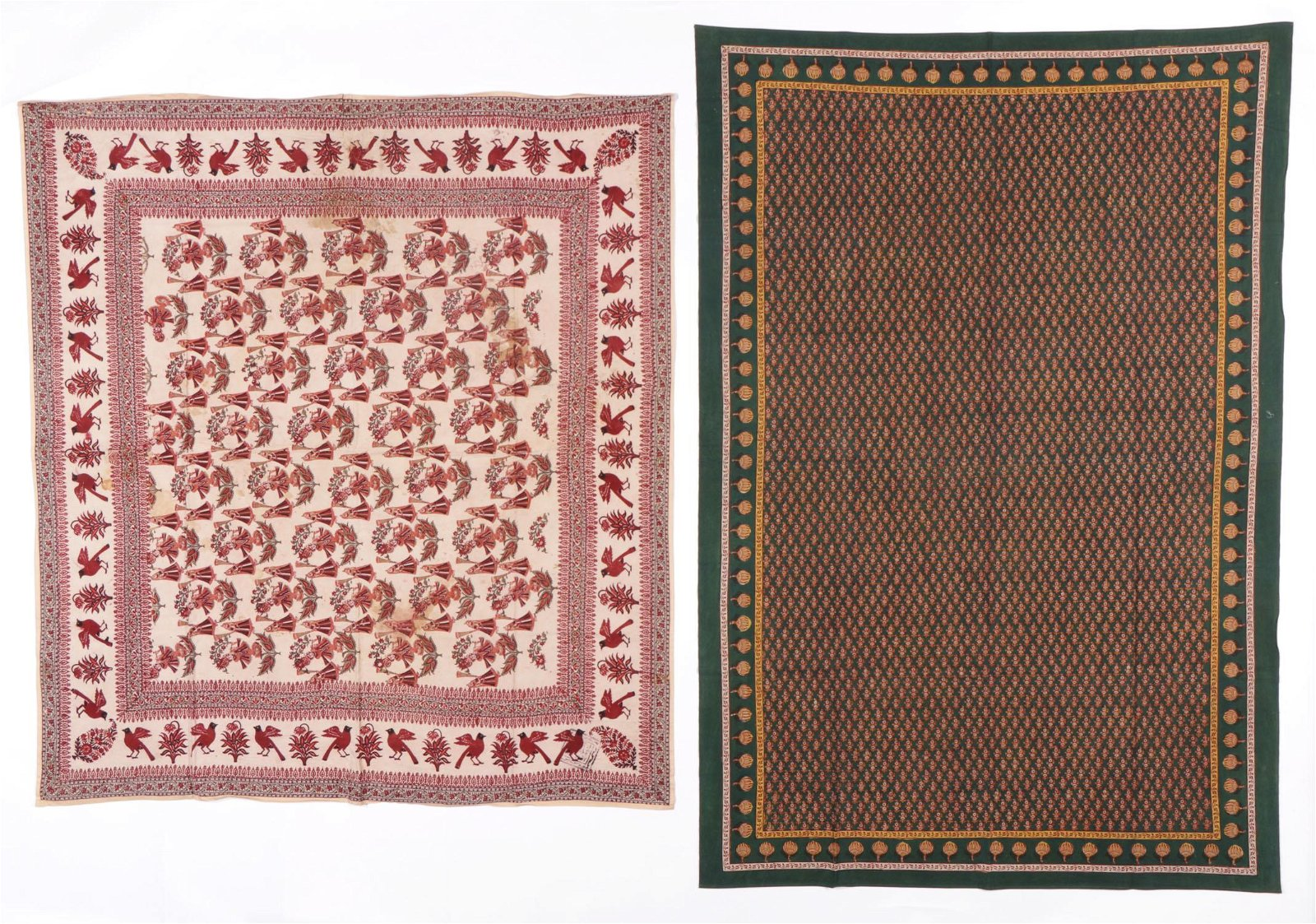 Two Traditional Block Print Hangings, India