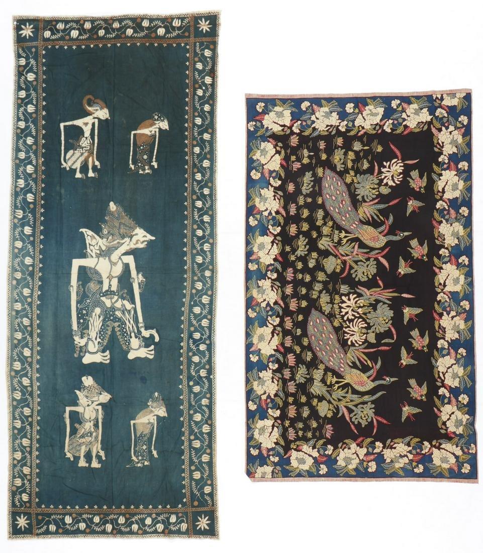 2 Indonesian Batik Tulis Textiles
