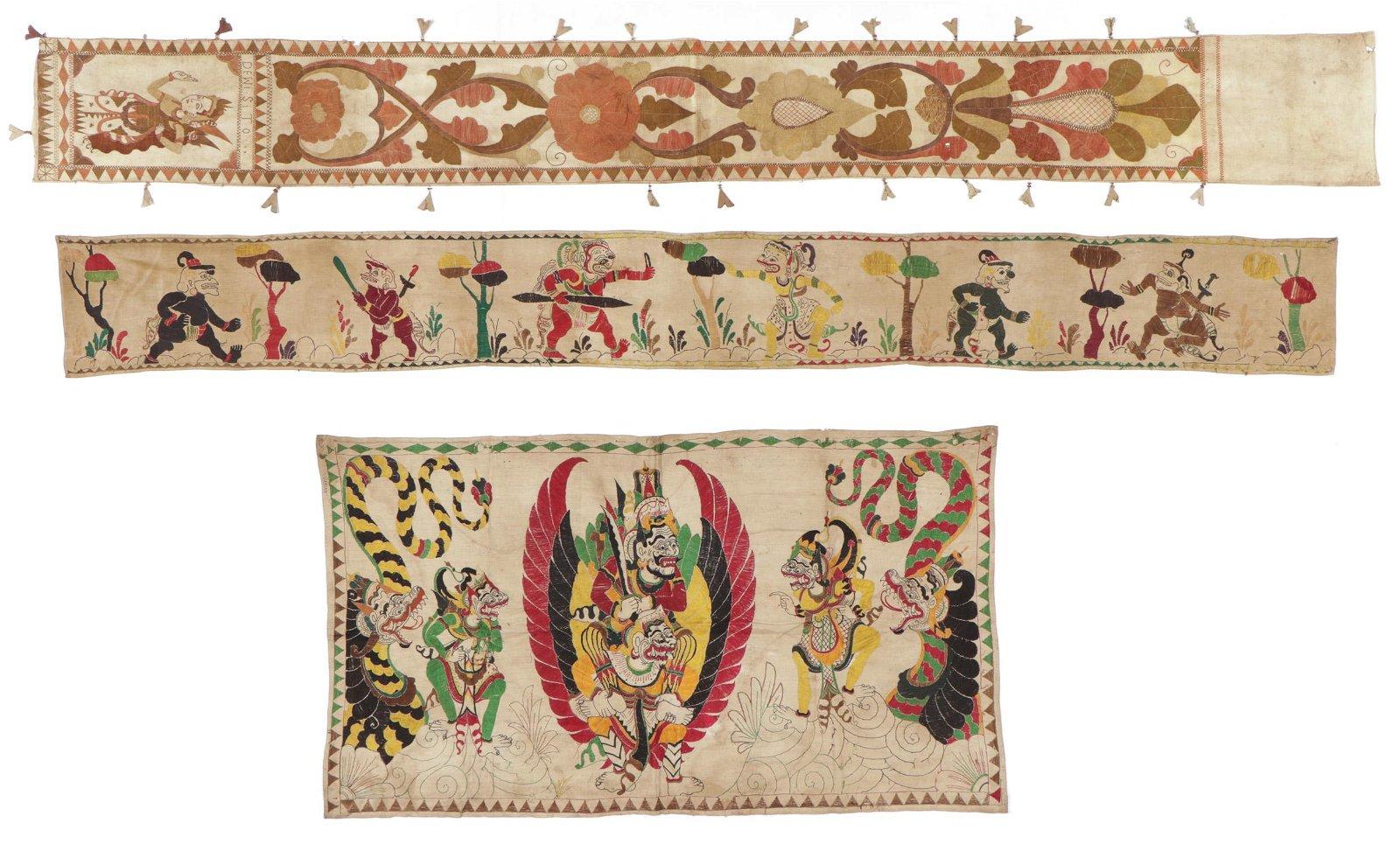 3 Balinese Ceremonial Temple Textiles