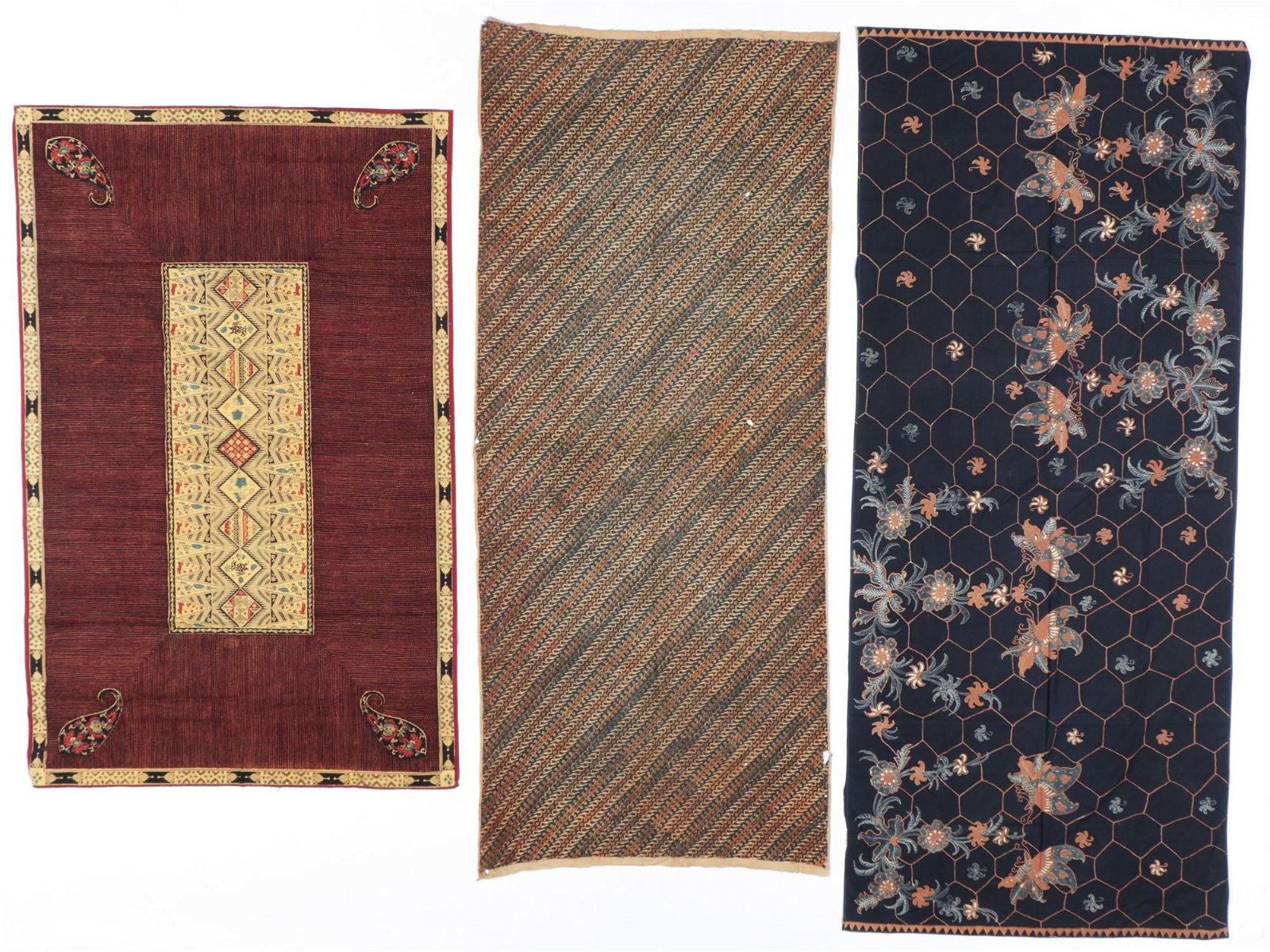 3 Indonesian Batik Textiles