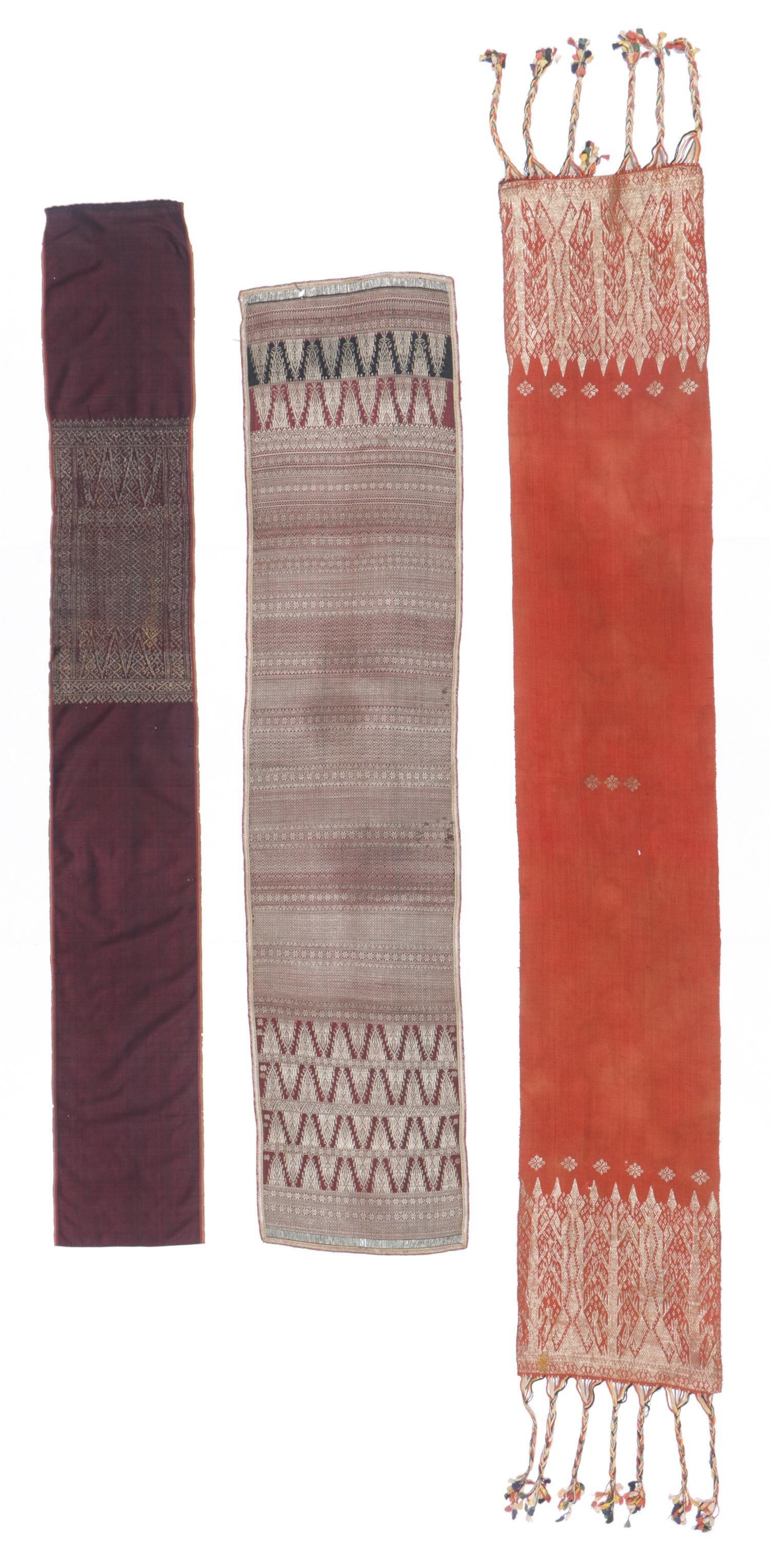 3 Antique Sumatran Songket Textiles