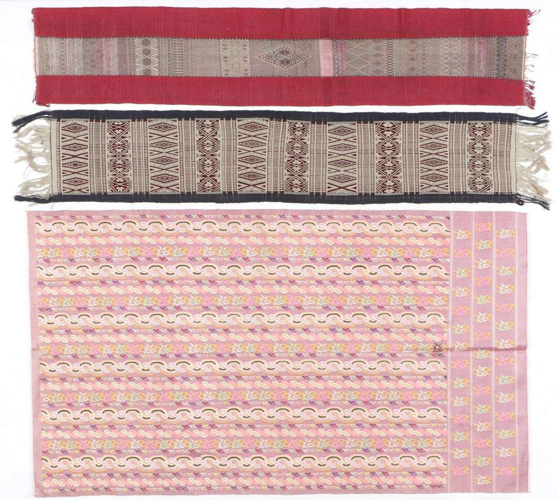 Collector's Lot of 3 Burmese Textiles