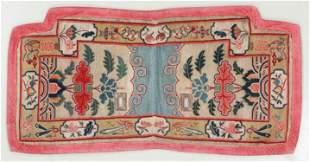 Tibetan Saddle Rug, Tibet, Early 20th C., 4'8'' x 2'4''