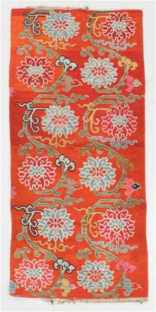 Tibetan Rug, Tibet, Early 20th C., 2'11'' x 6'3''