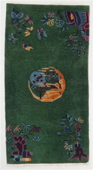 Art Deco Rug , China, Early 20th C., 2'8'' x 4'10''