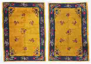 Pair of Art Deco Rugs, Early 20th C, China