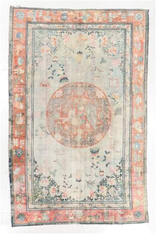 Silk Rug, China or East Turkestan, 19th C., 6'7'' x
