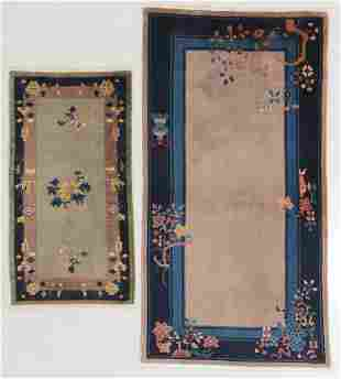 2 Art Deco Rugs, China, Early 20th C.
