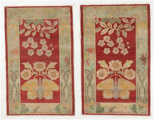 Pair of Art Deco Rugs, China, Early 20th C.