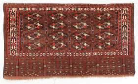 Yomud Chuval Rug, Turkmenistan, Late 19th C., 4'3'' x