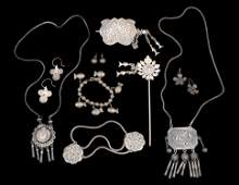 Group of Thai/Lao Silver Jewelry