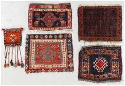 Estate Grouping of 5 Antique Persian Trappings