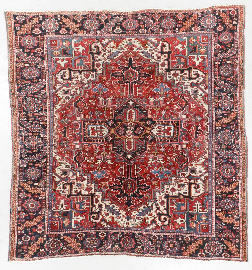 Heriz Rug, Persia, Early 20th C., 8'7'' x 9'2''