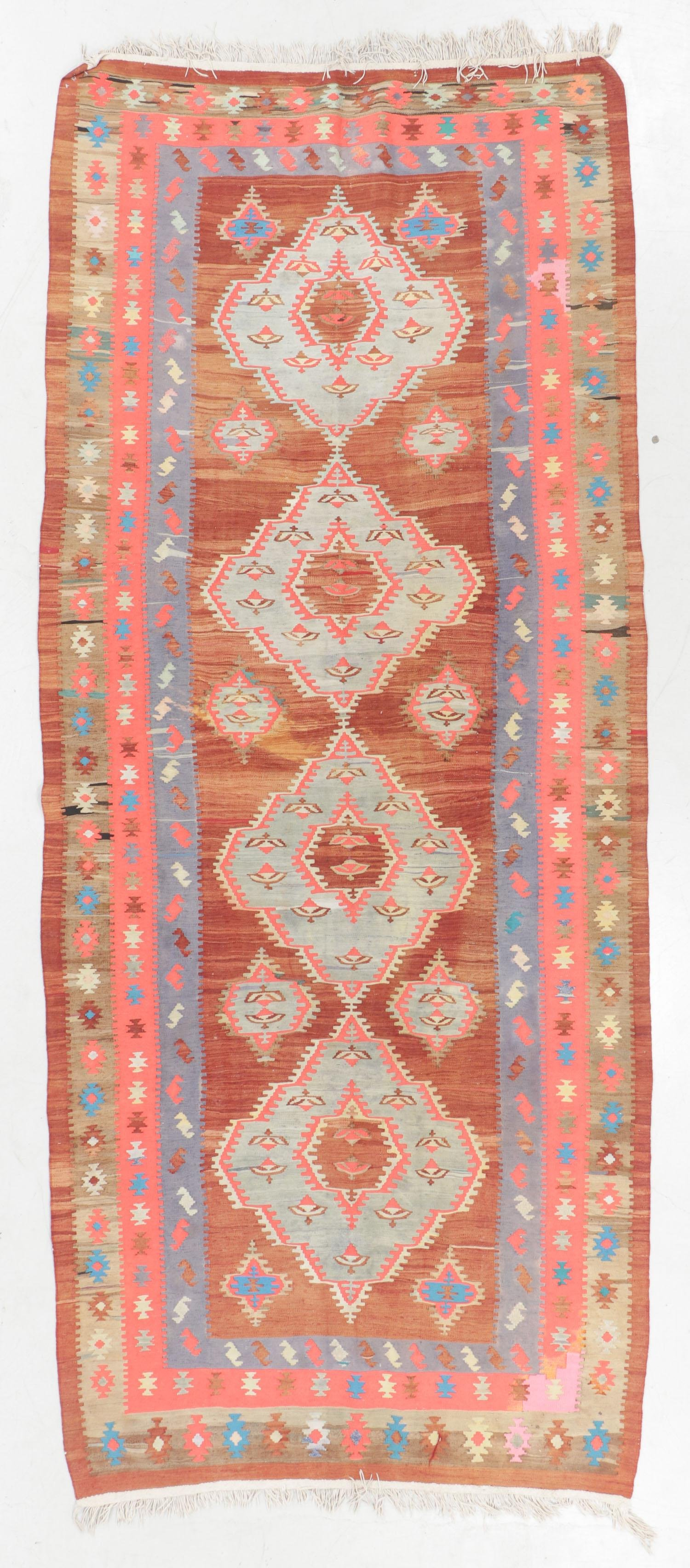 West Persian Kilim, Persia, Early/Mid 20th C., 4'9'' x