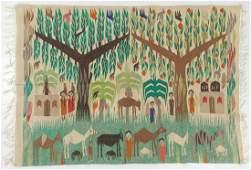 Folk Art Tapestry, Egypt, Circa 1970's